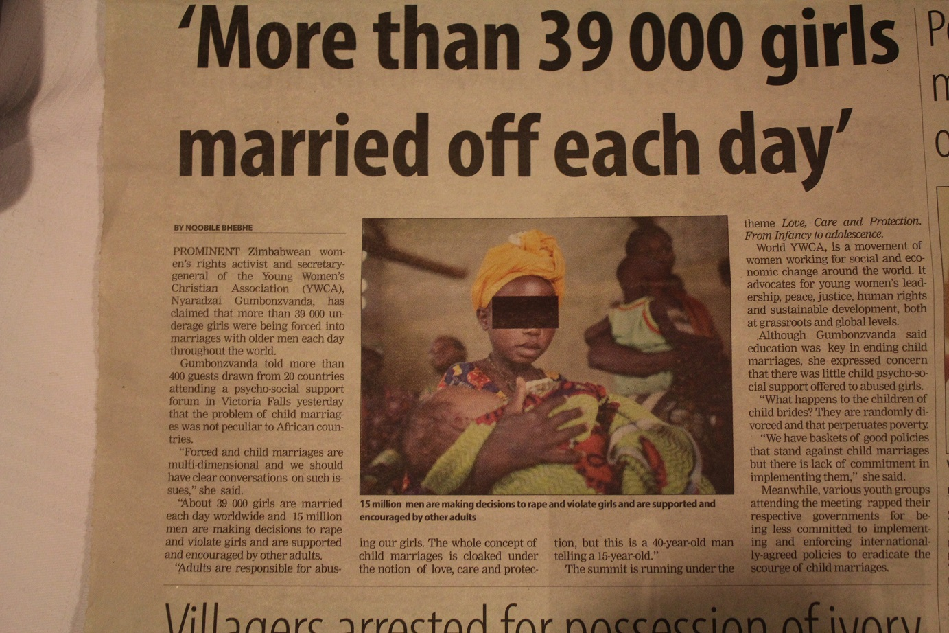 More than 39,000 girls married off each day