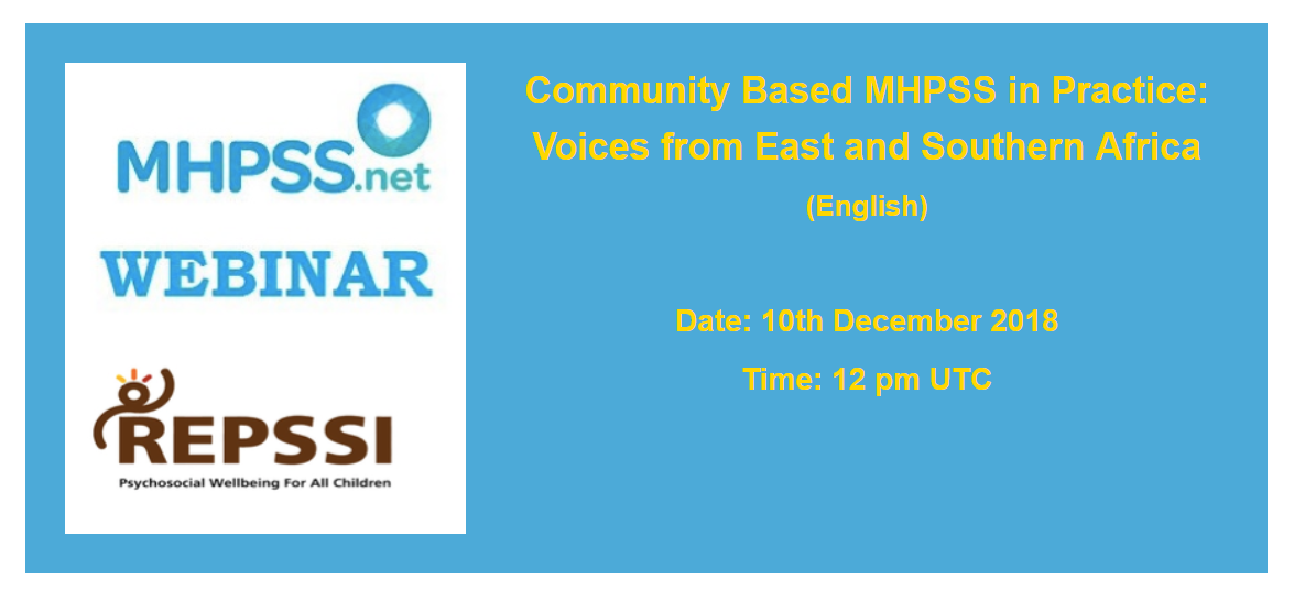 Community Based MHPSS in Practice: Voices from East and Southern Africa